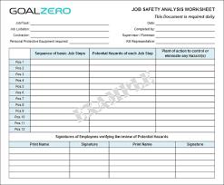 Job Hazard Analysis Worksheet Safety Job Safety Analysis Jsa