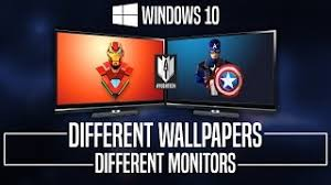 set diffe wallpapers on multiple