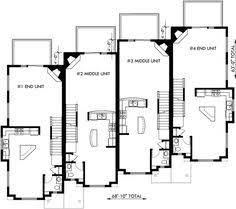 Quadplex Plans Eplans House Epl Styles  Building Plans Online Quadplex Plans