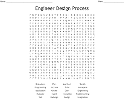 Engineering Design Process Test Answers Steps Of The Engineering Design Process Word Search Wordmint