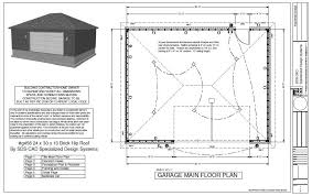 garage door plansg456 24 x 30 x 10 Hip Brick Eave side doors Garage Plan  Free