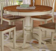 Round Wooden Dining Tables Nice White And Wood Dining Table On White Dining Table Design