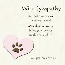 Loss Of Pet Quotes Simple Dog Sympathy Card For Dog And Loss Of Pet Sympathy Quotes For Losing