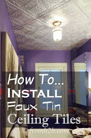 How To Install Decorative Ceiling Tiles How to Install Faux Tin Ceiling Tiles Faux tin ceiling tiles 16