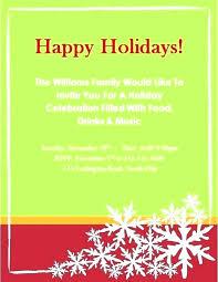 Holiday Dinner Invitation Template Holiday Invite Office Dinner Invitation Template Free Email