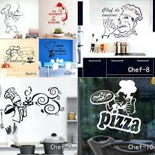 home decor vinyl wall art kitchen wall stickers chef cuisine removable wall cals vinyl wall art