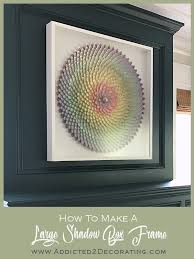 how to make a diy shadow box frame for large artwork