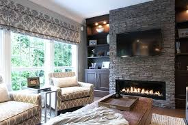electric fireplace with stone stone electric fireplace with square serving trays family room traditional and horizontal