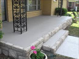 Front Porch Flooring Ideas Unique The Old Yellow Brick Was Removed And  Replaced Stone Along The