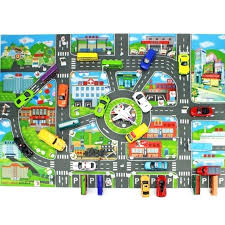 kids mat details about rugs town road map city cars toy rug play village x math