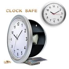 wish secret wall clock safe money stash jewellery stuff storage container box novelty box