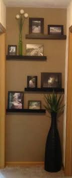 Cute idea for small wall beside bathroom door in the master bedroom.