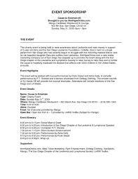 Format For Sponsorship Letter Interesting Sponsorship Lettermat Pdf Brilliant Ideas Of Project Summary Event