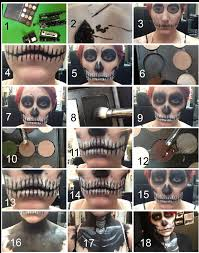 how to skull make up tutorial
