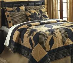 country duvet covers quilts dakota rustic country black star quilt