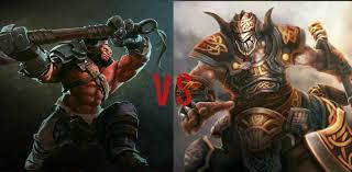 dota 2 battle axe vs centaur warrunner youtube