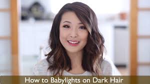 Dark Hair Style how to babylights dark hair youtube 4958 by wearticles.com