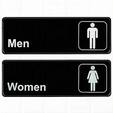 Image Library set Of 2 Restroom Signs Mens And Womens Restroom Signs Black And Amazoncom Womens Bathroom Signs Amazoncom