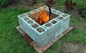diy fire pit cinder blocks