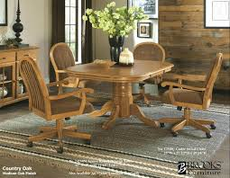 brooks table and 4 caster chairs