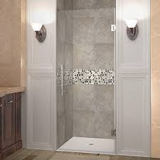 completely frameless hinged shower door in chrome