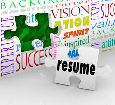 A Puzzle Piece With The Word Resume Filling An Opening In A Wall