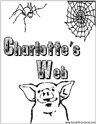 Small Picture Charlottes Web Coloring Pages Free Printable Colouring Pages for