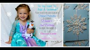 Frozen Invites Diy Frozen Invites I Easy And Awesome Youtube