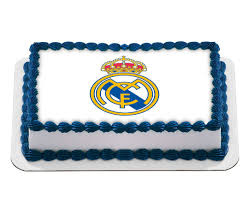 Real Madrid Football Club Logo Edible Cake Image Birthday Cake