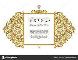 vector vintage golden frame in victorian style stock vector