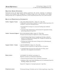Hvac Resume Samples Resume Design Engineer Resume Sample Resume