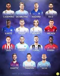 Team of the year 2018 (toty). 433 Pick 3 Midfielders For Your Uefa Toty Facebook
