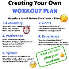 Design Your Own Workout Plan 5 Things To Consider When Creating Your Workout Plan