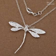 whole fashion jewelry 925 silver dragonfly charms pendant necklace 18inch necklaces for men white gold necklace from angeloving 44 88 dhgate com