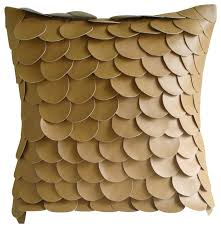 The HomeCentric - Brown Fish Scales Pillows Cover, 20