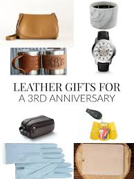 a roundup of leather gift for a 3rd anniversary and includes leather gifts for her