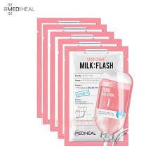 Mediheal Zero Solution Skin Chart Milk Flash Mask 25ml 5ea Available Now At Beauty Box Korea