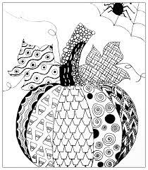 Halloween Adult Coloring Halloween Simple Pumkin Drawing Halloween