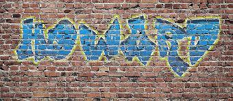 graffiti text effect in photo