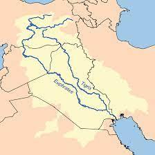Map showing the Tigris–Euphrates river system, which surrounds Mesopotamia  | Ancient mesopotamia, Mesopotamia, Ancient astronomy