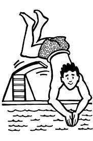 Kinderpleinen Zwemmen Kleurplaten