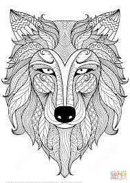 Click The Wolf Zentangle Coloring Pages To View Printable Version Or