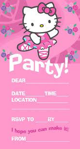 Hello Kitty Party Invitation Hello Kitty Free Printable Birthday Party Invitation
