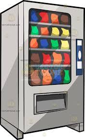 Vending Machine Clipart Magnificent A Traditional Snack Vending Machine Clipart By Vector Toons