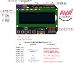 arduino data sheet code for arduino lcd keypad shield