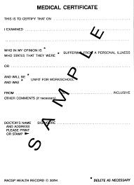 Medical Certificate Format For Sick Leave Dtk Templates