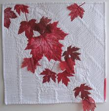 Kathy's High-Fibre Art Diet: Canada 150: Red and White & 2017 is Canada's 150th Birthday and this art quilt celebrates the occasion  in red and white! The red maple leaves were painted using hand-cut stencils  that ... Adamdwight.com
