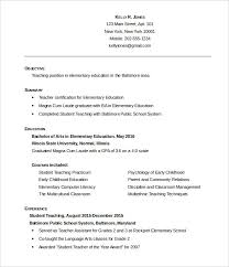 Resume Templates Education 51 Teacher Resume Templates Free Sample Example  Format Ideas