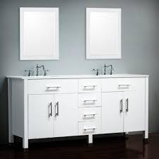 72 inch bathroom vanity double sink white. 72 inch double basin sink white vanity set - isabella bathroom