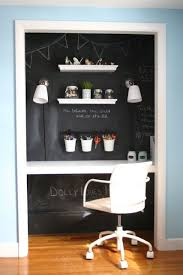 turn closet into office. Contemporary Closet Apply A Coat Of Chalkboard Paint To Closet Walls For Distrationfree  Space Throughout Turn Closet Into Office